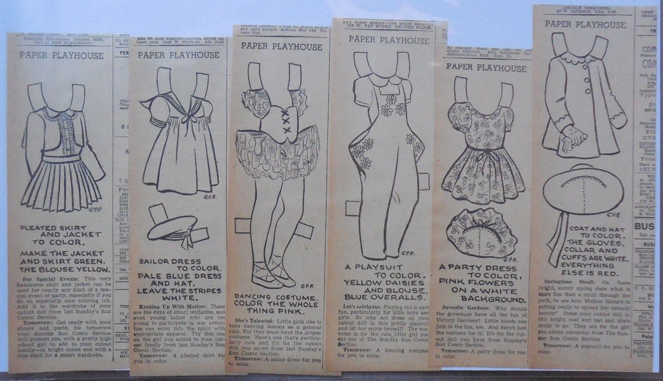 Paper Playhouse Sunday + 6 Daily,Paper Doll by G. P