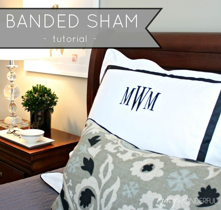 Crazy Wonderful: banded sham - tutorial