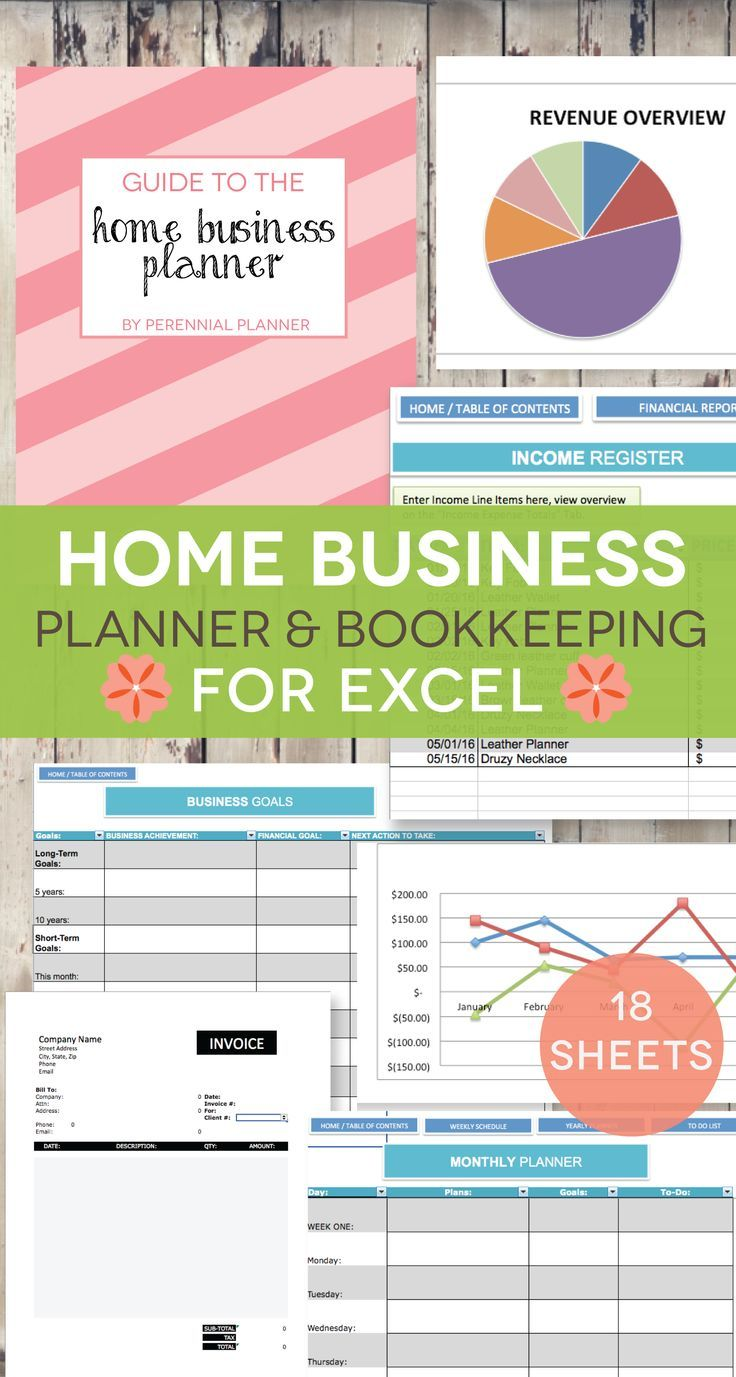 Home Business Planner 2020 Excel Spreadsheet Etsy