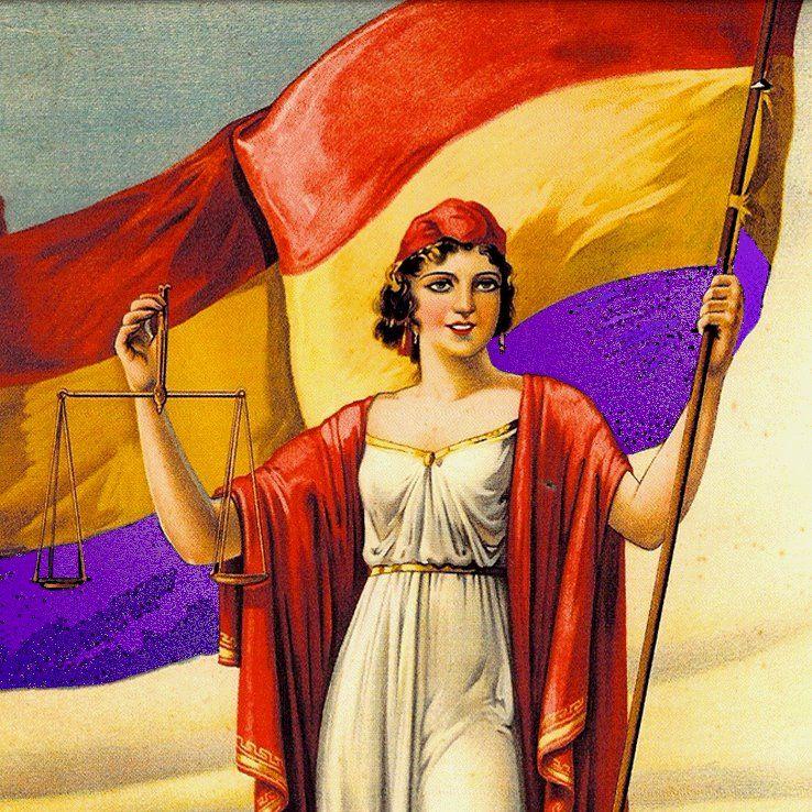 La Proclamacion De La Segunda Republica Espanola En La Puerta Del Sol De Madrid Fotografia