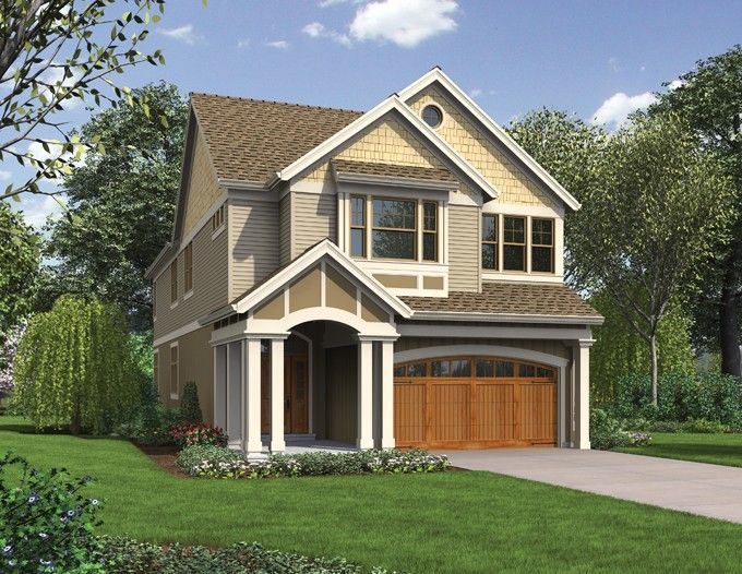 Craftsman Style House Plan 4 Beds 3 Baths 3048 Sq Ft Plan 48 903 Narrow House Plans Narrow Lot House Plans Garage House Plans