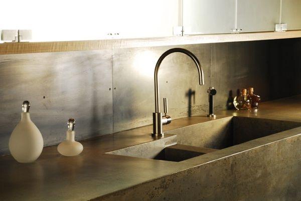 kitchen sink trends integrated concrete. Interior Design Ideas. Home Design Ideas