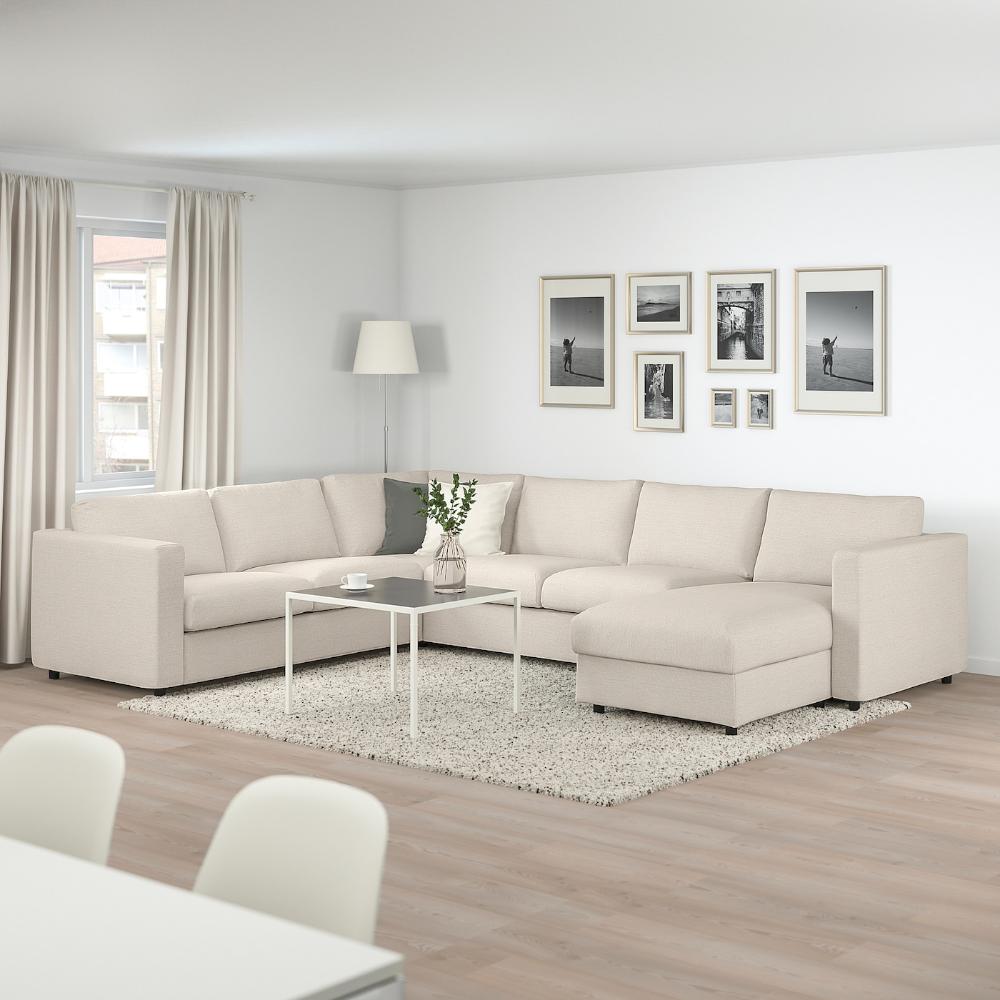 VIMLE Corner sleeper sofa, 5seat with chaise, Gunnared