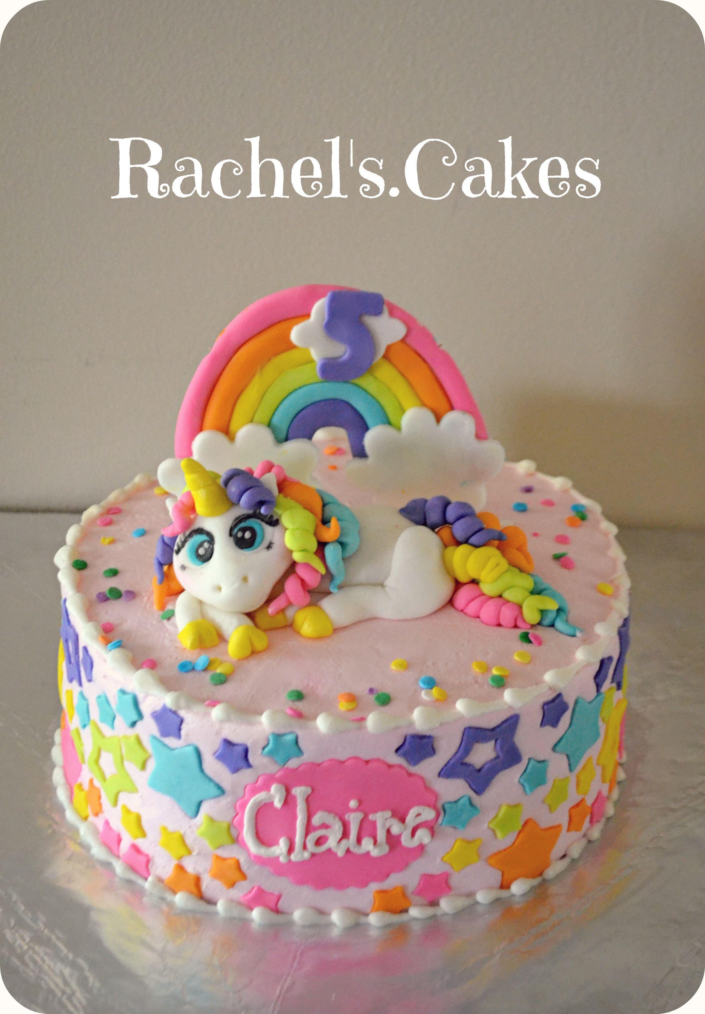 Rainbow Unicorn Cake Facebook The Rachels Cakes