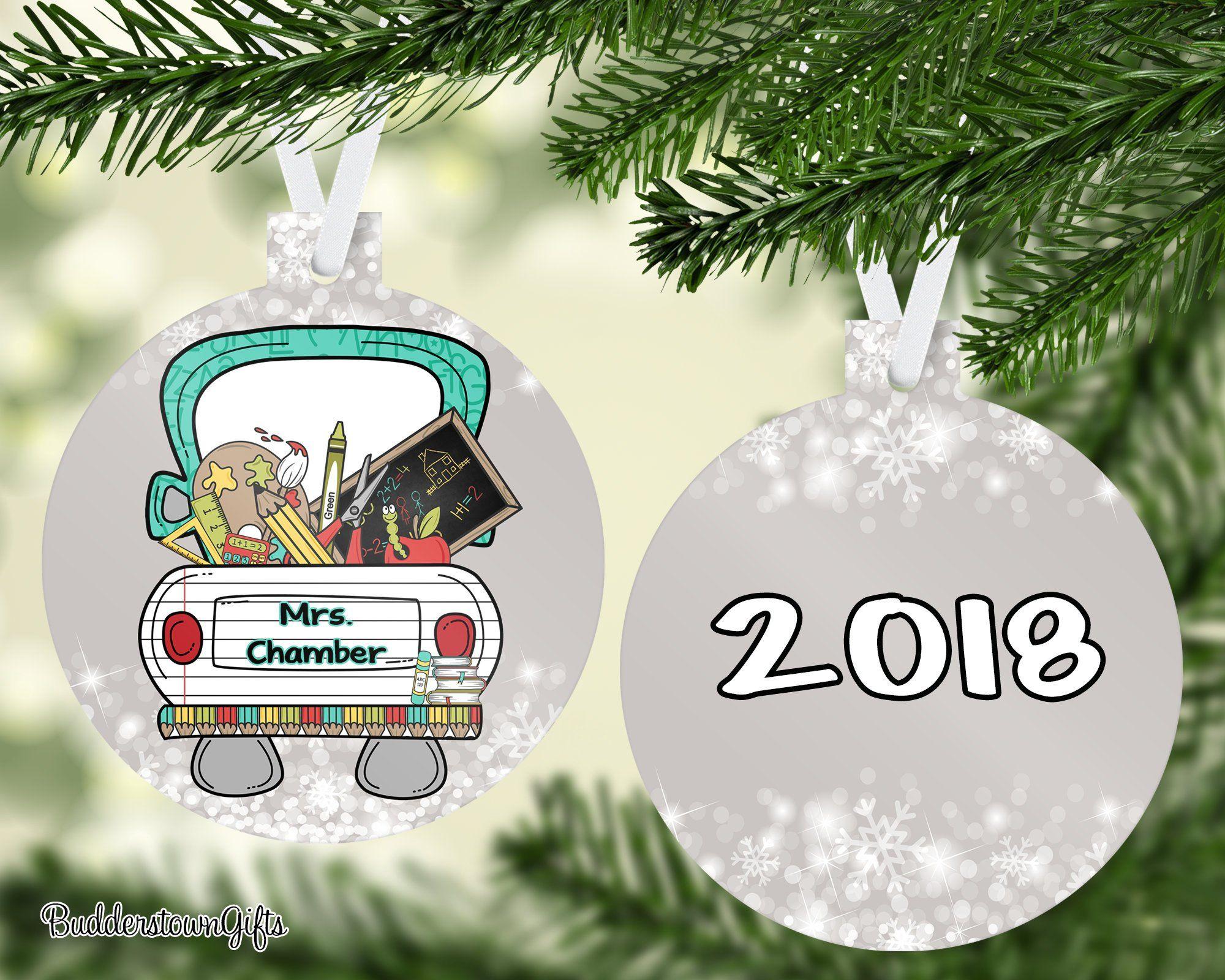 Teachers Ornament, 2019 Teacher, Teachers Gift Gift for Teacher, Free Shipping