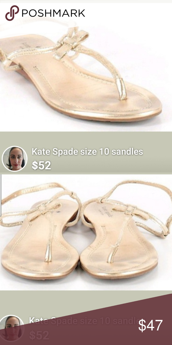e9985448dbb2 Kate Spade size 10 golden flat sandles Semi gladiator style and completely flat  kate spade Shoes