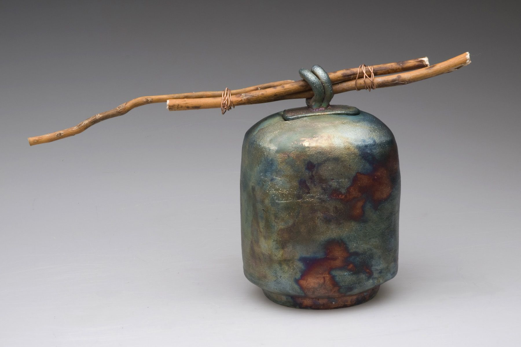 Raku Bottle with Attachment