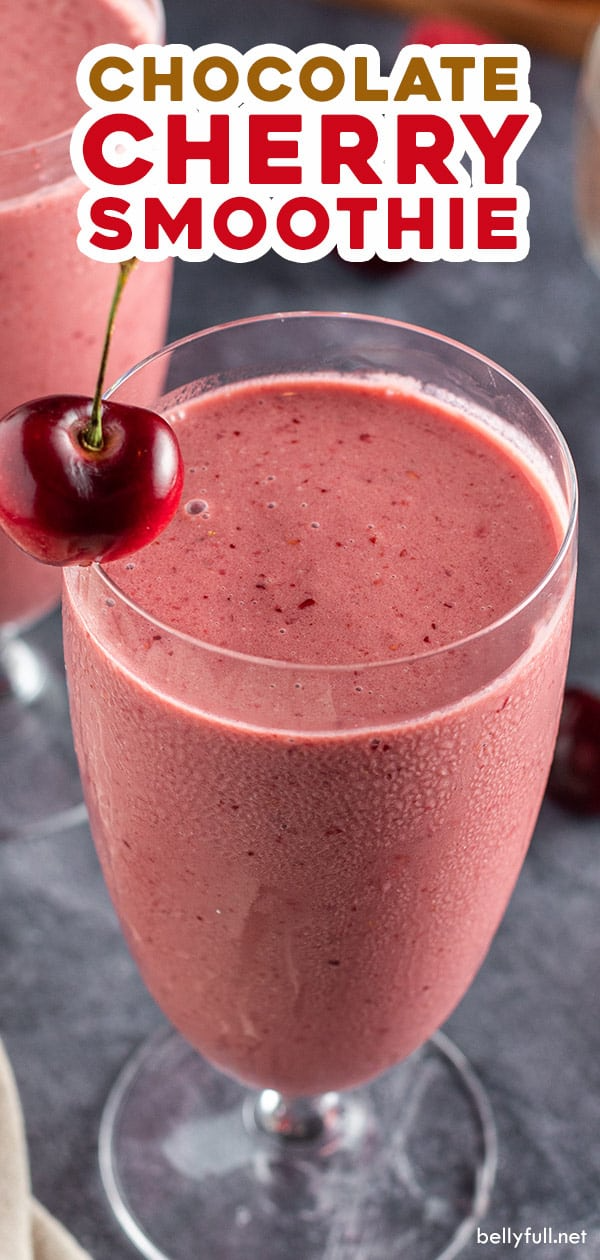 Whip Up This Easy Cherry Smoothie Recipe In Minutes Made With Cherry Juice Chocolate Ice Cream An Cherry Smoothie Cherry Smoothie Recipes Ice Cream Smoothie