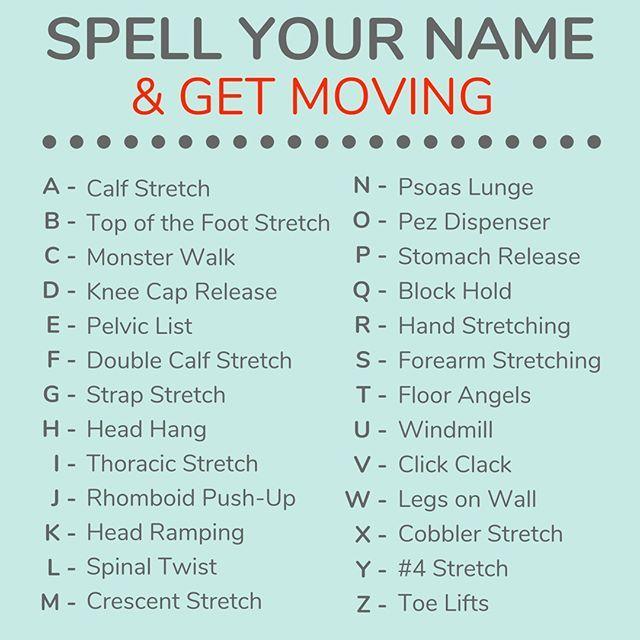 Your Weekend Moves Spell Your Whole Name If You Really Want A Challenge Enjoy Lushliving Crnpilates Pilates Chicago Workoutvideos Functionalfitnes