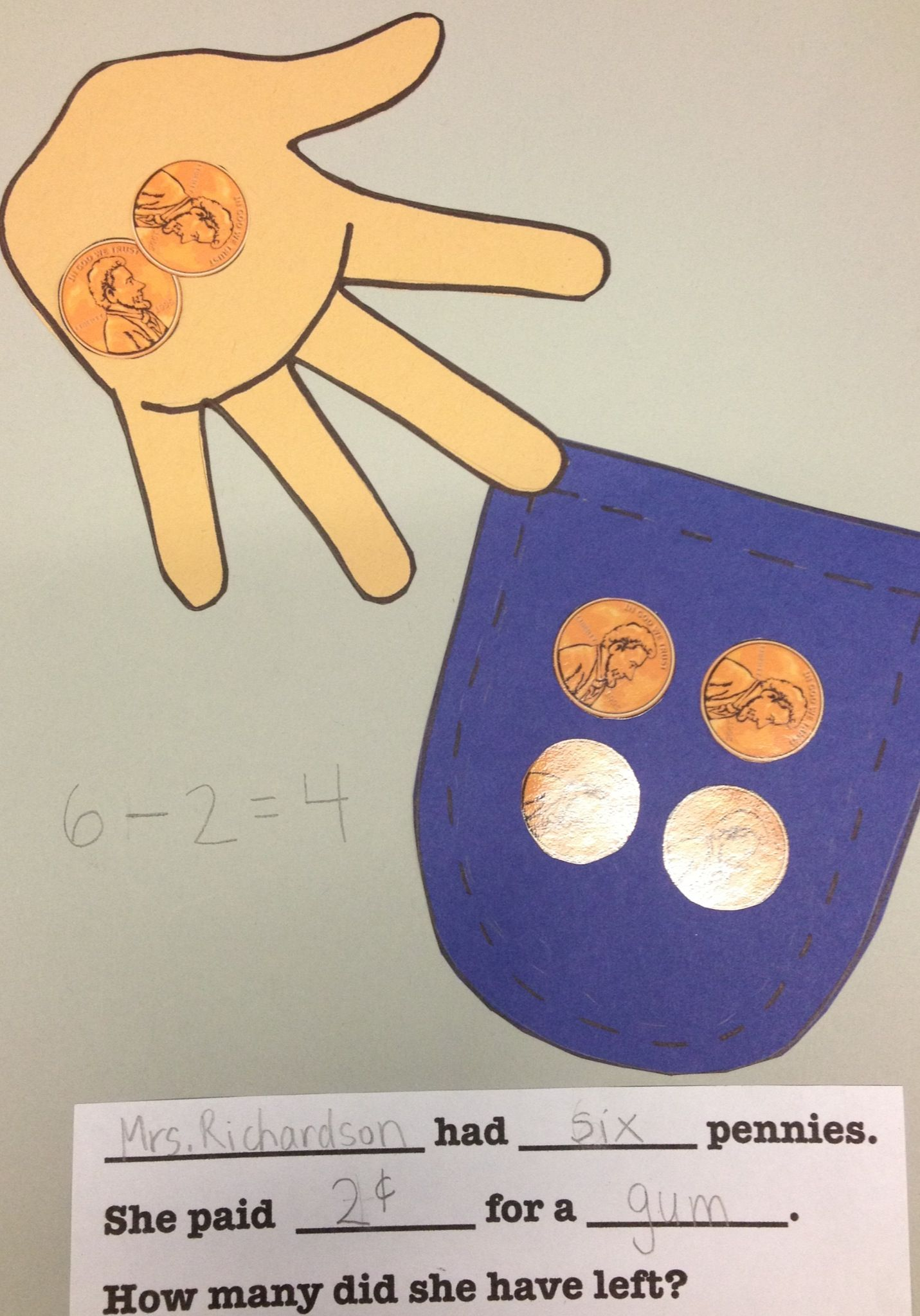 Teaching My Kindergarteners About Subtraction Using Pennies Amp Real Life Scenarios Money Math