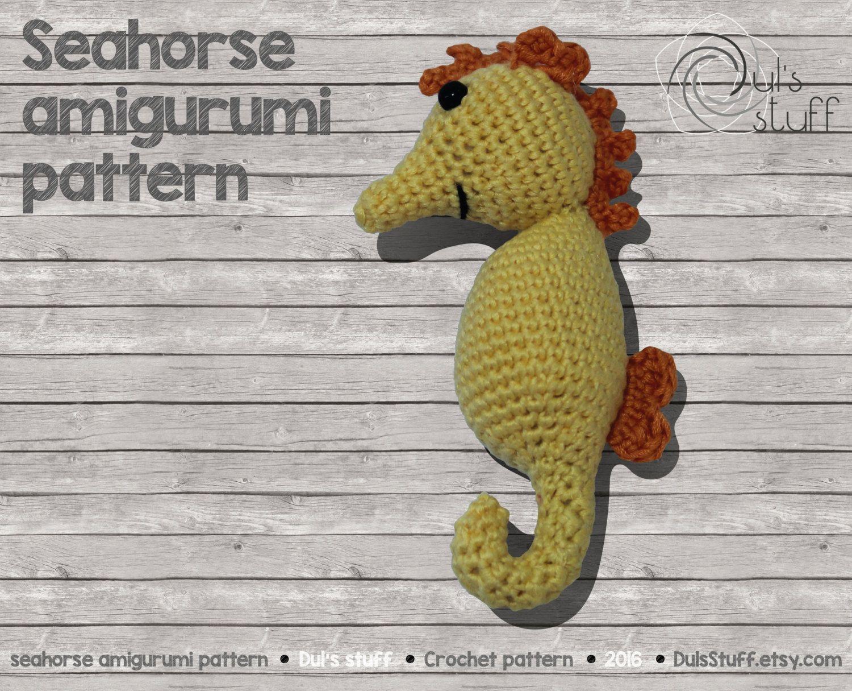 Seahorse amigurumi pattern | Amigurumi