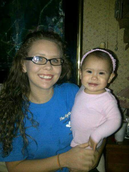 Donna's daughter Kayla and her baby Hop