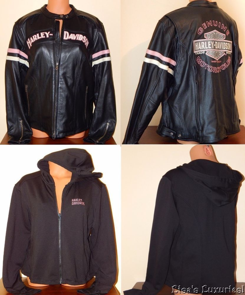 new product best loved uk cheap sale Womens 1W Harley Davidson 3-in-1 Leather Jacket Miss Enthusiast ...