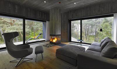 Casa moderna de hormigon y madera en 2019 ideas apt for Casa moderna hormigon