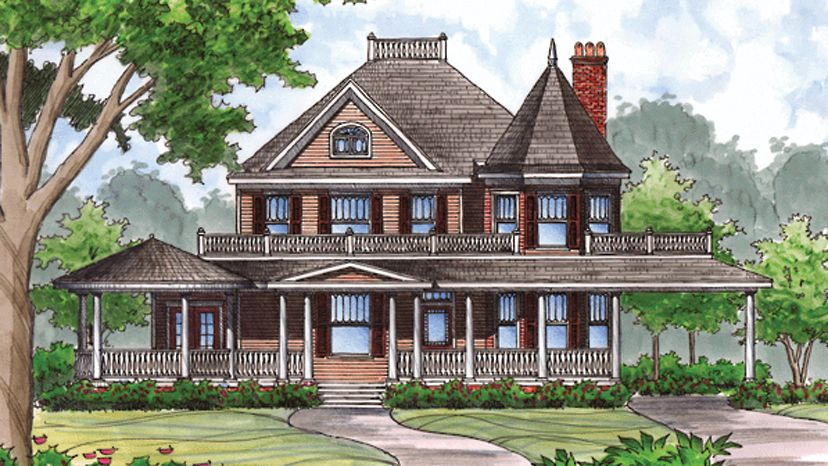 queen anne house plans. Home Plan Is A Gorgeous 2781 Sq Ft, 2 Story, 4 Bedroom, Bathroom Influenced By + Queen Anne Style Architecture. House Plans