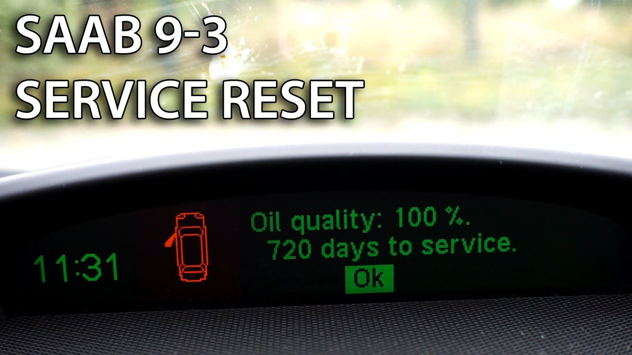 How to reset SRI service reminder indicator in #Saab 9-3 II (SRL maintenance spanner)