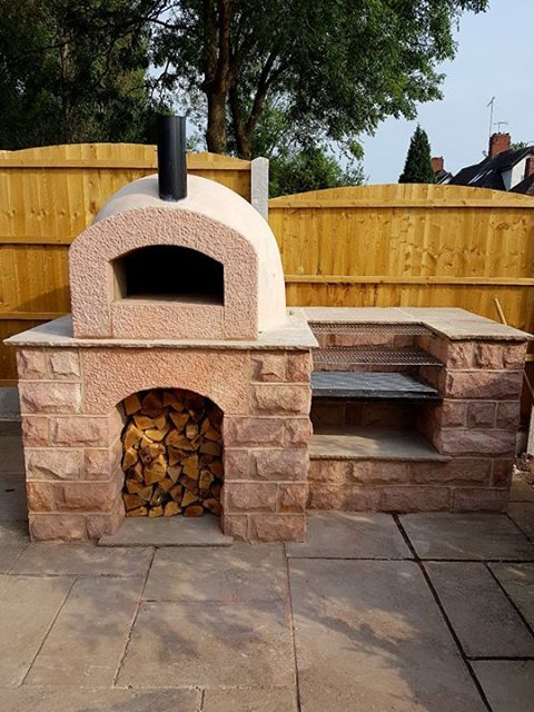 Milan 750 Pizza Oven Kit Used With Stone Base And Built In
