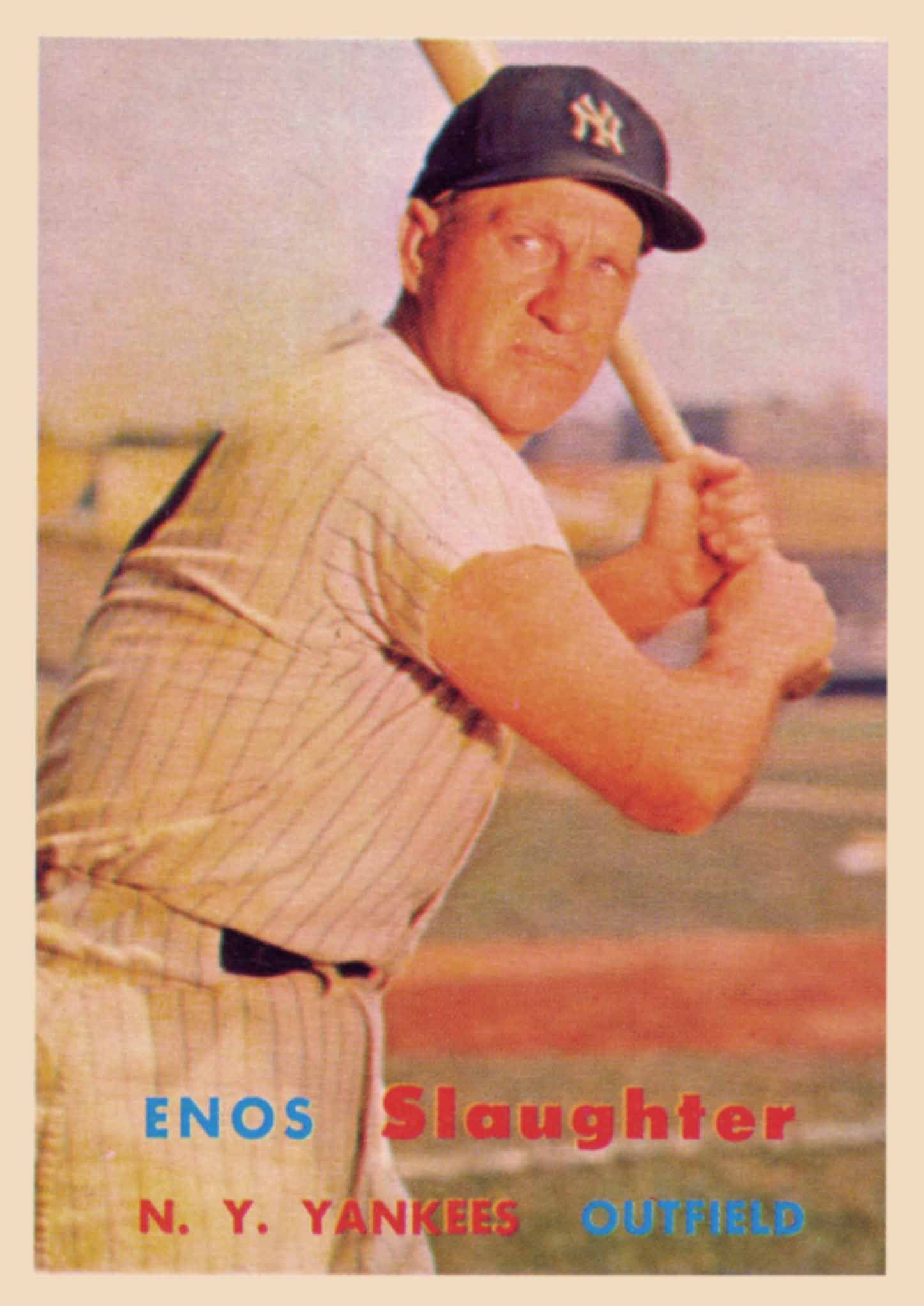 Enos Slaughter Gallery Enos Slaughter Baseball Cards Yankees Baseball