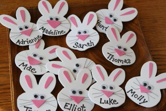 Name Tags Bunny Theme Desk Dec Creative Name Tags Desk