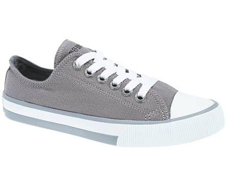 7e00b604df69 Harley-Davidson footwear women s Zia grey canvas sneakers Lace Sneakers
