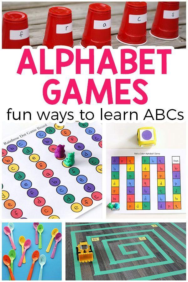 Alphabet Games For Preschool And Kindergarten  Alphabet Games