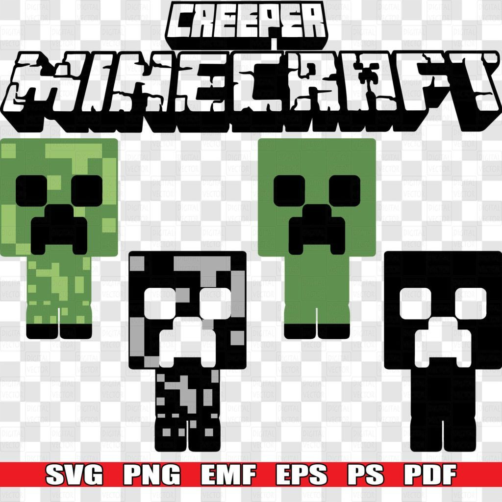 SVG Creeper Minecraft, PNG Clipart, Silhouette Vector