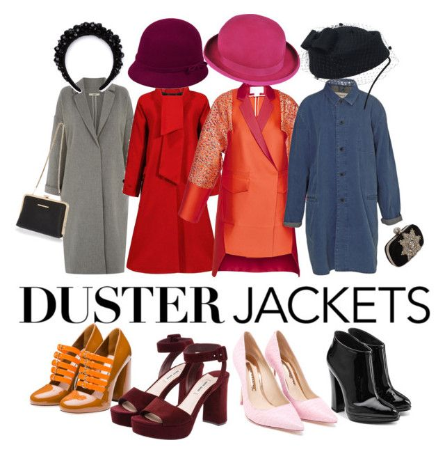 """Duster jackets"" by norbertheartselmo ❤ liked on Polyvore featuring Oasis, Antonio Berardi, Bethnals, Miu Miu, Giuseppe Zanotti, Sophia Webster, Simone Rocha, Paul Smith, Alexander McQueen and River Island"