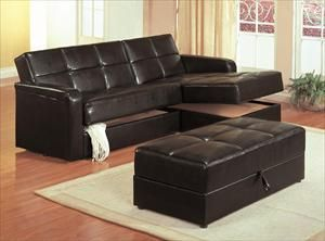 Couch Has Storage Underneath Reclining Chaise Add The Ottoman And You Have A Full Bed And Leather Sofa Bed Sectional Sleeper Sofa Sofa Bed For Small Spaces
