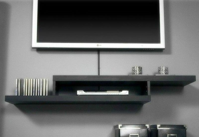 Sign up to see the rest of what's here! all white floating tv wall ...