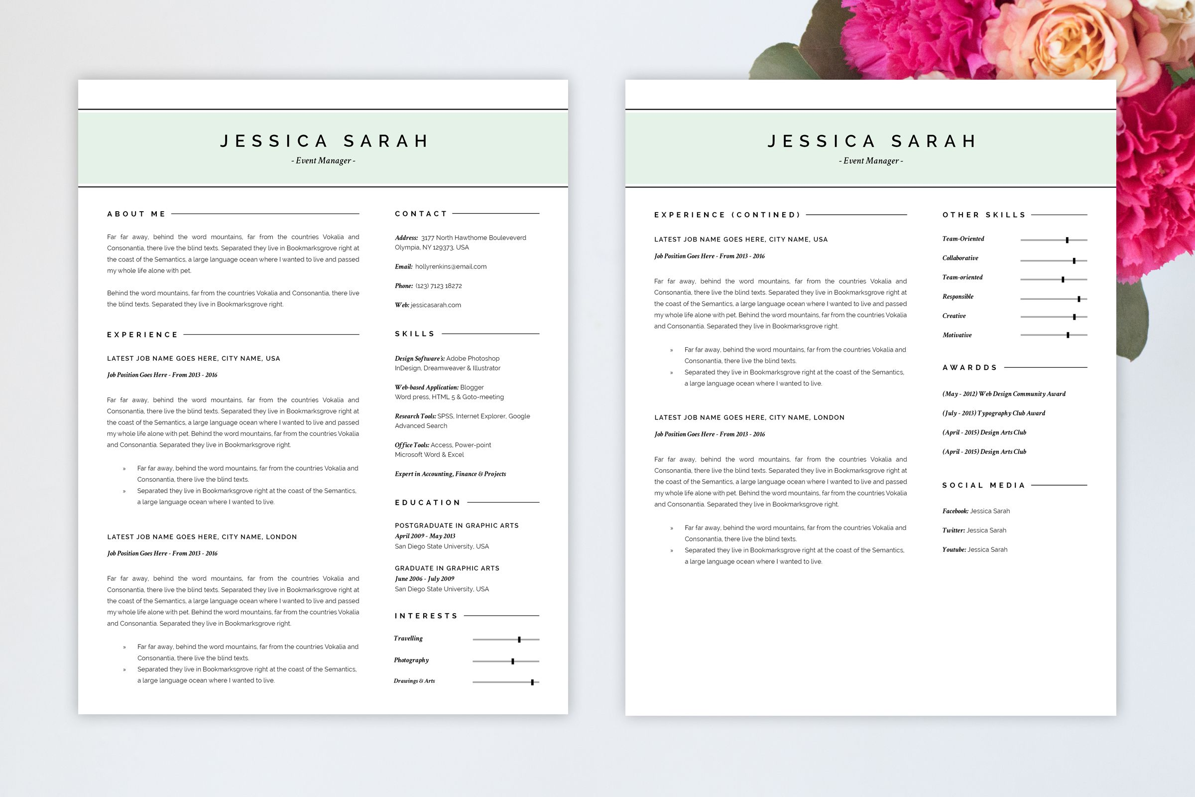 Luxury Resume Cv Template  Cv Template Resume Cv And Template