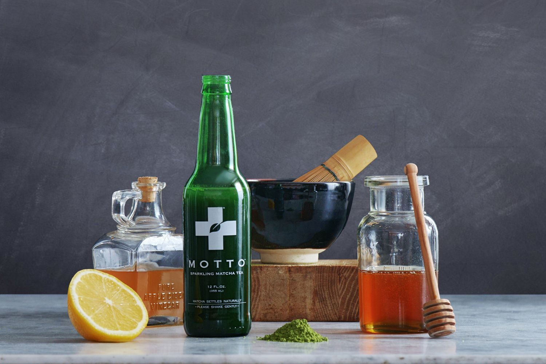 bottle and ingredients Matcha tea, Matcha, Diet soda