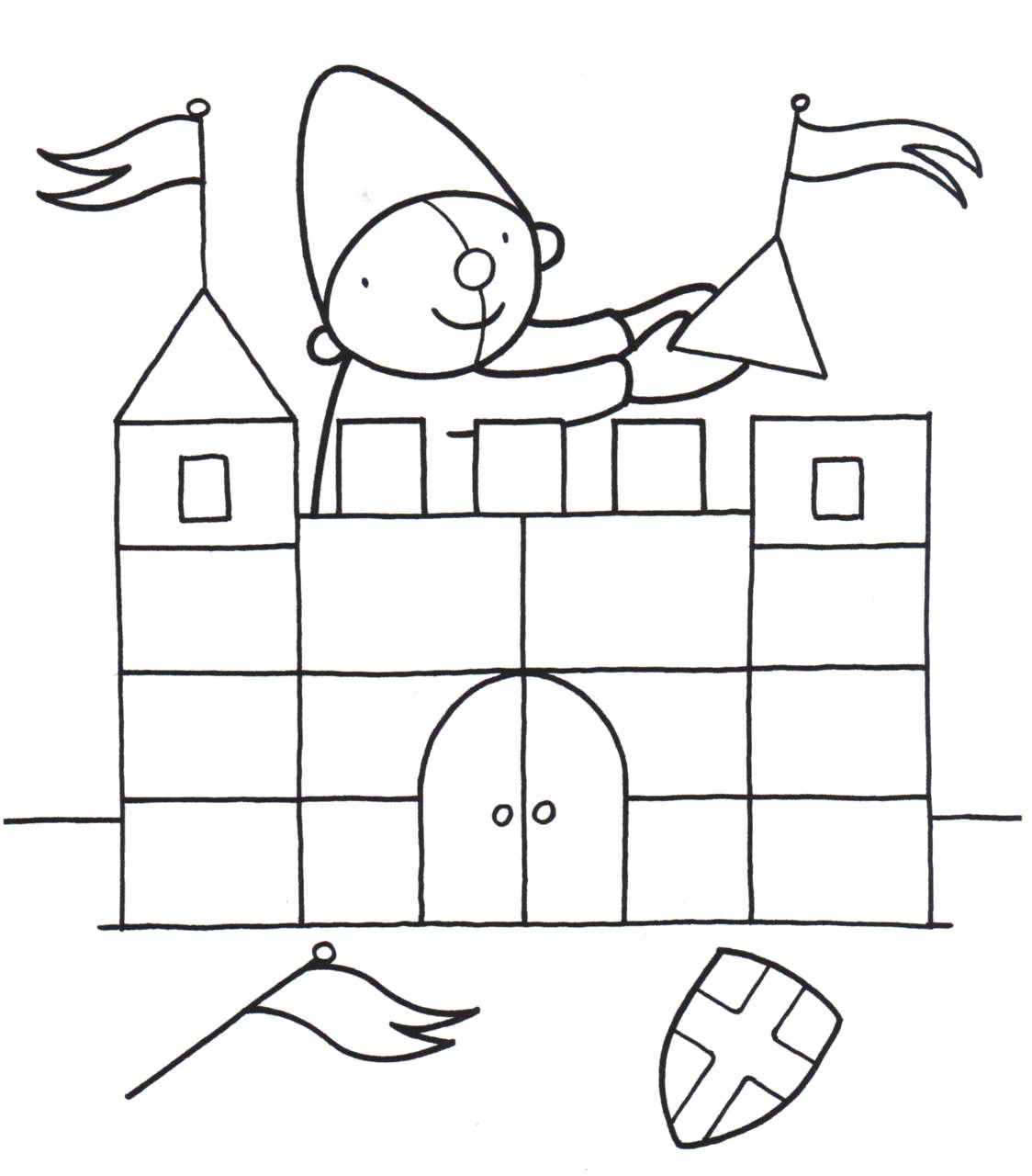 kleurplaat pompom kasteel ridders kleurplaten sprookjes