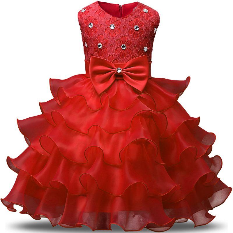 fe6a2c8cf749 Baby Girl Dress Summer 3-8 Years Floral Baby Girls festa Dress ...