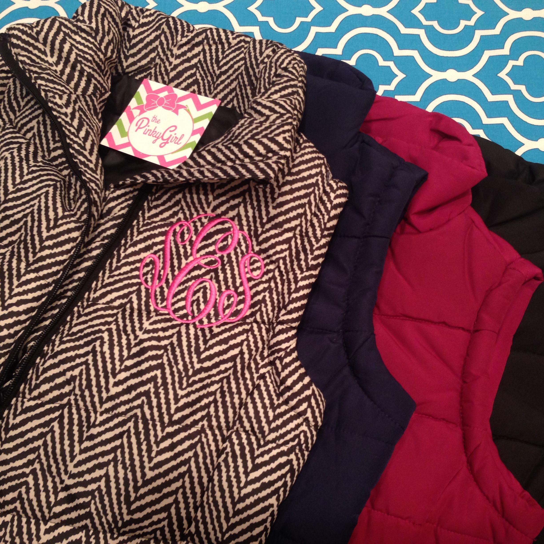 387be9dae97a Adorabel affordable monogrammed puffer vest for  30!!!! Order your ...