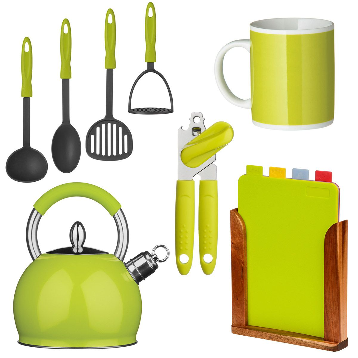 Lime Green And Black Kitchen Accessories: Lime Green Kitchen Accessories At ACHICA.com