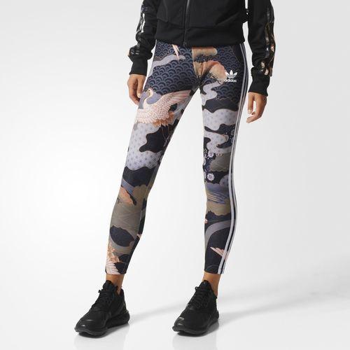 adidas Kimono Print Leggings Multicolor | fashionably fit
