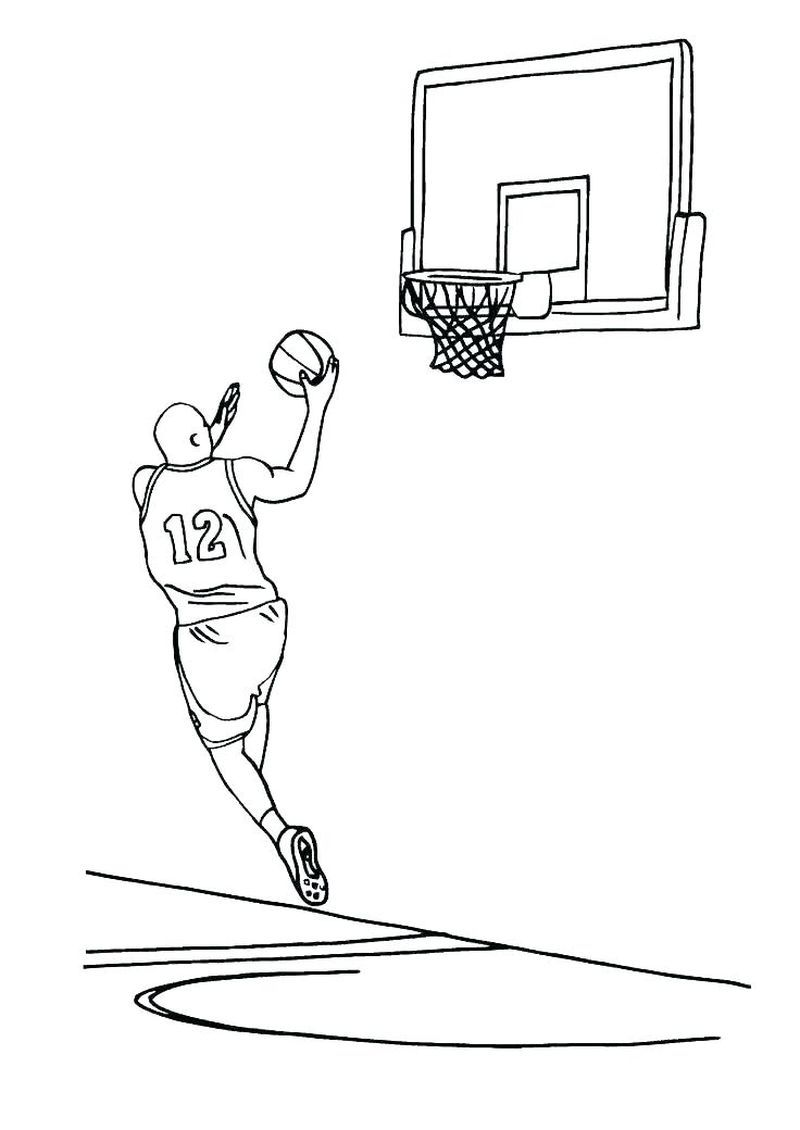 Gonzaga Basketball Coloring Pages Sketsa Desain
