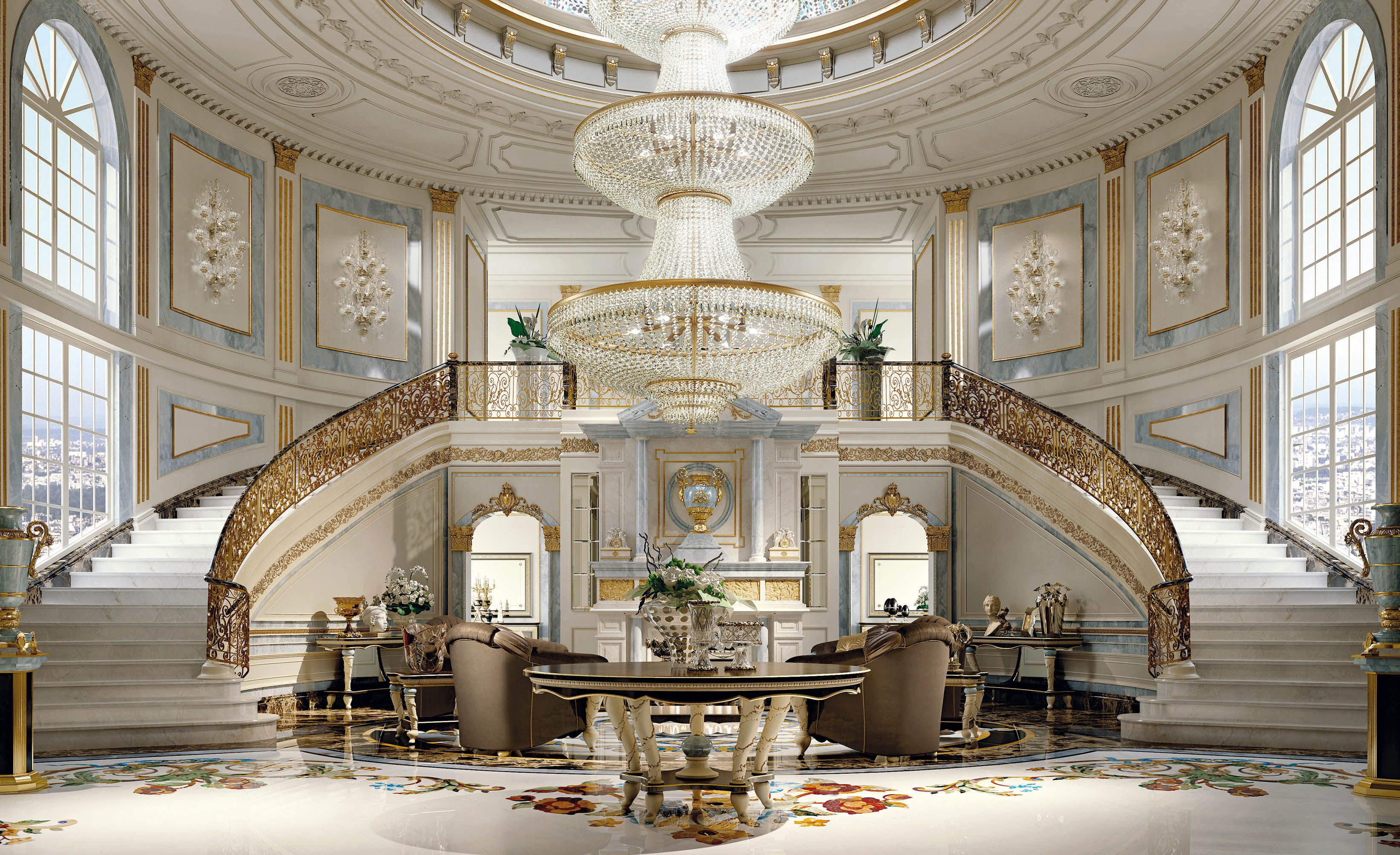 Luxury Home Entrance Italian Furniture For Exclusive And Modern Design Luxury