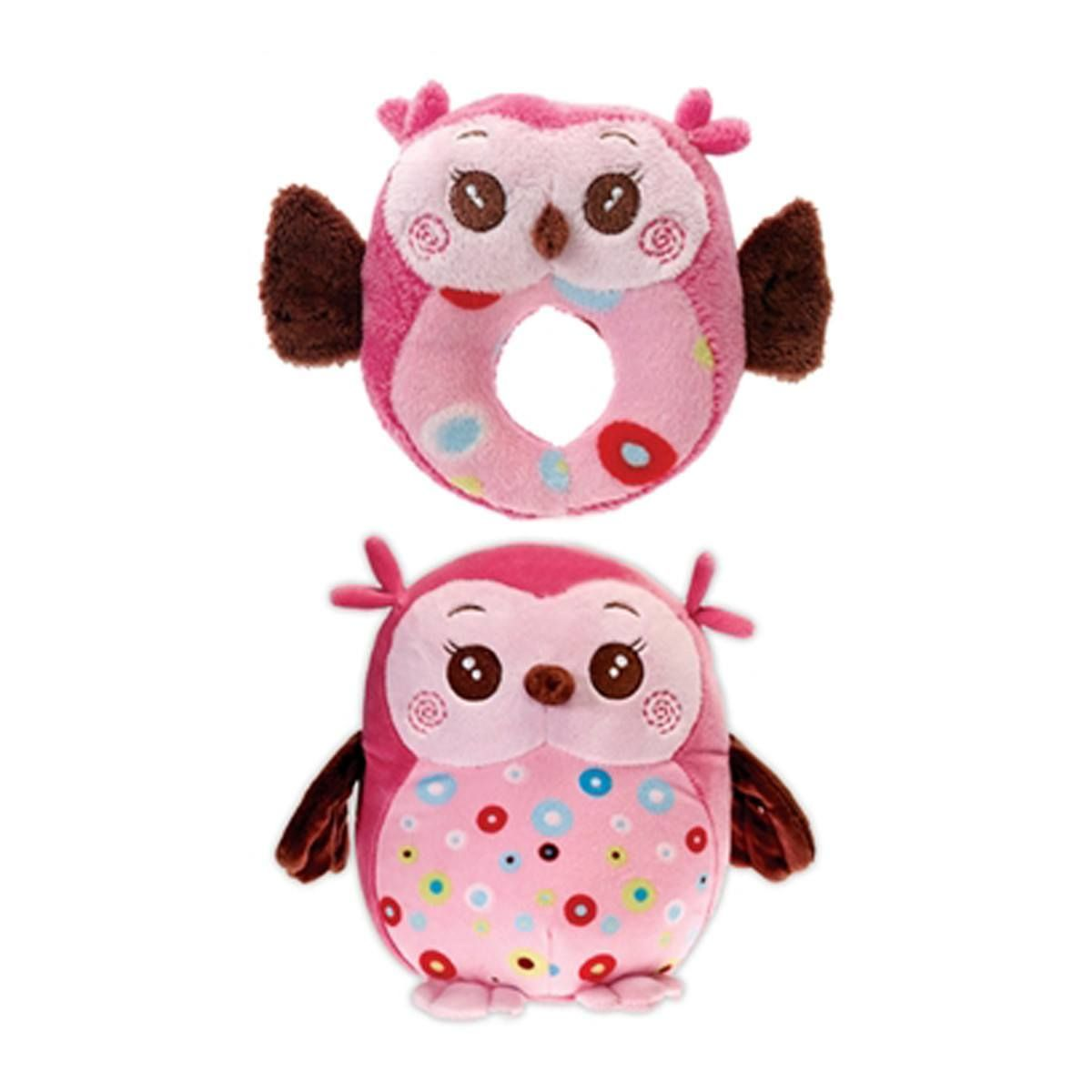 Hocus And Pocus Two Furrs Dog Toy Pink Owls Products
