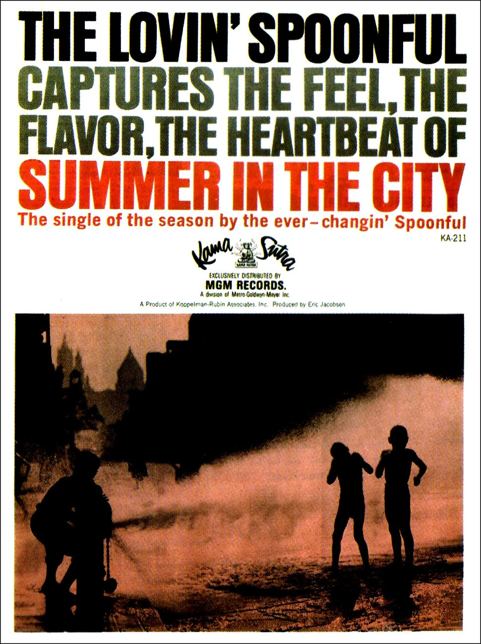 The Lovin Spoonful Summer In The City Ad 1966 Kunstgeschiedenis