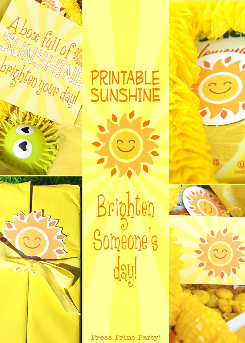 Brighten Someone's Day With A Sunshine Box