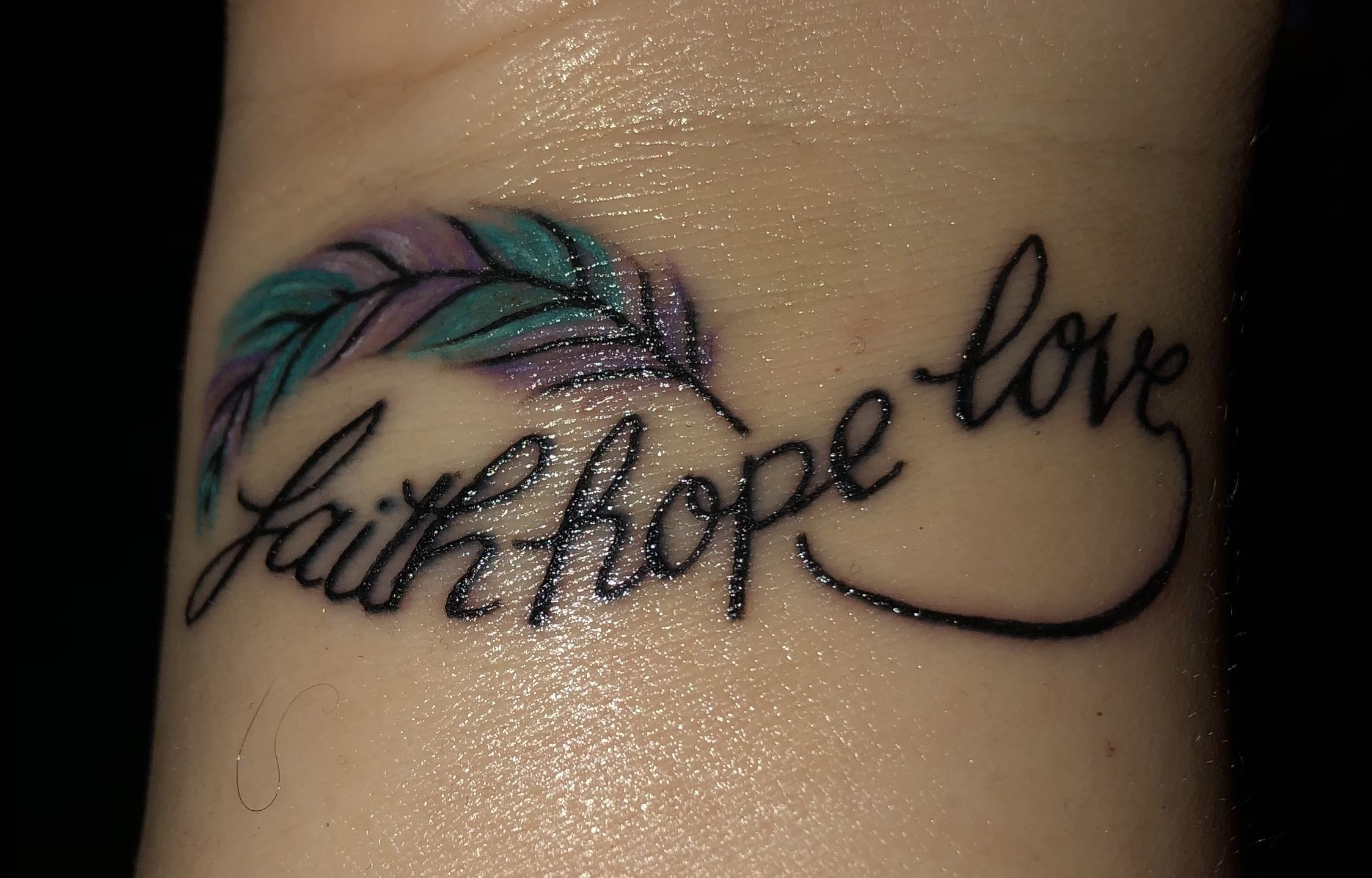 Faith Hope Love Infinity Tattoo Faith Hope Love Tattoo Faith
