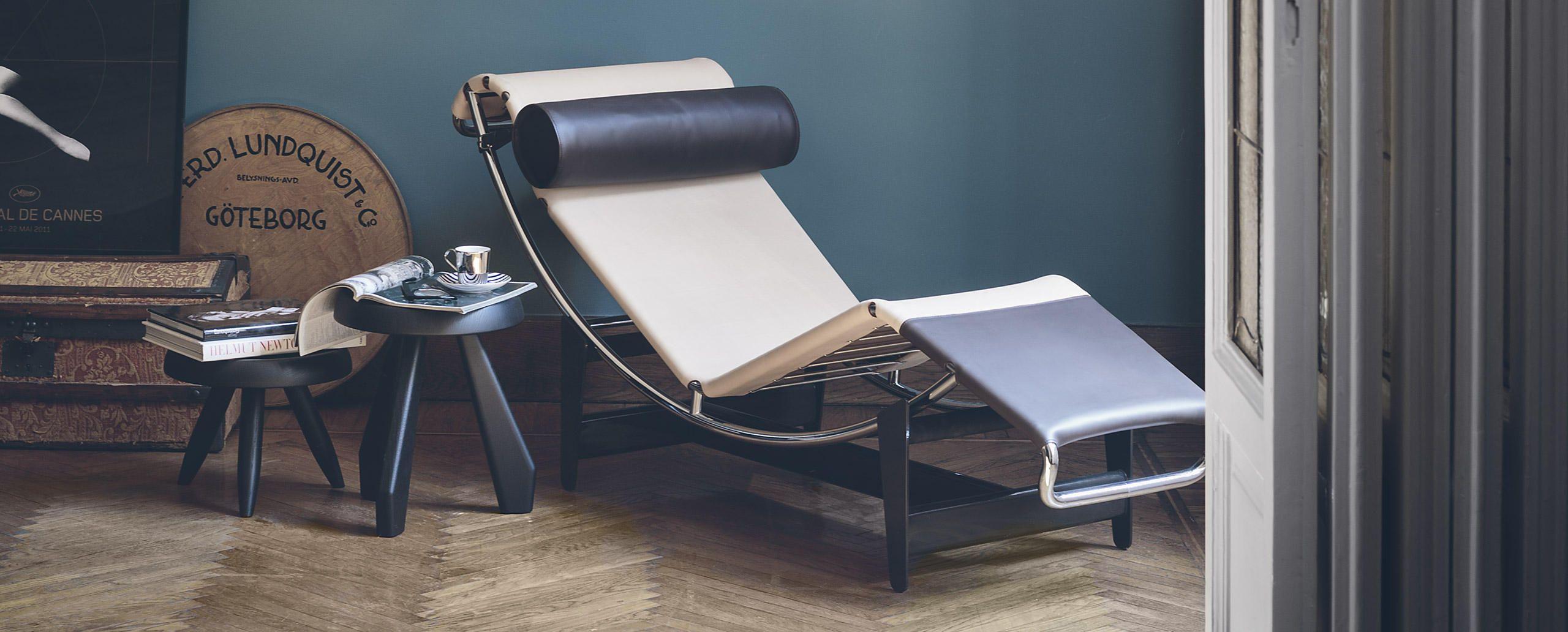chaise longue lc4 villa church par le corbusier et. Black Bedroom Furniture Sets. Home Design Ideas