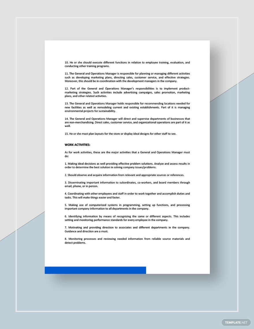 General And Operations Manager Job Description Template Free Pdf Google Docs Word Apple Pages Template Net Job Description Template Operations Management Job Description