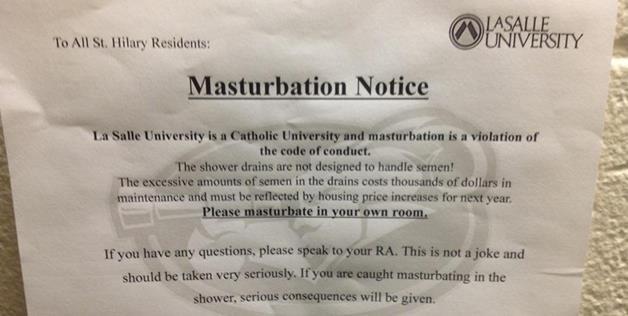 Masturbate in college shower