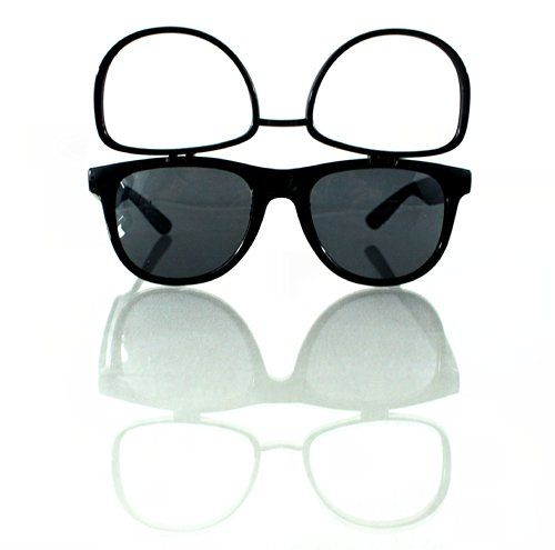 Black Sunglasses W/ Flip Up Diffraction Lenses - Wayfarer Inspired - Highest Quality Diffraction Effect available! The Rave Review LLC http://www.amazon.com/dp/B00KSN4E56/ref=cm_sw_r_pi_dp_B9sMtb17K4FXBZ1M