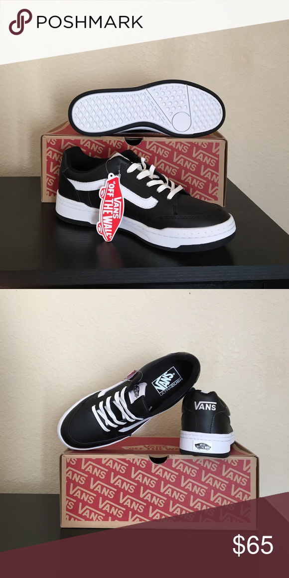 fae71b2abd7b Vans black leather White highland Shoes W 9 New with box women s size 9  Vans Shoes Athletic Shoes