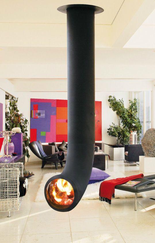 Focus Suspended   Custom Fireplace Design   B2    Dallas Art Deco ...