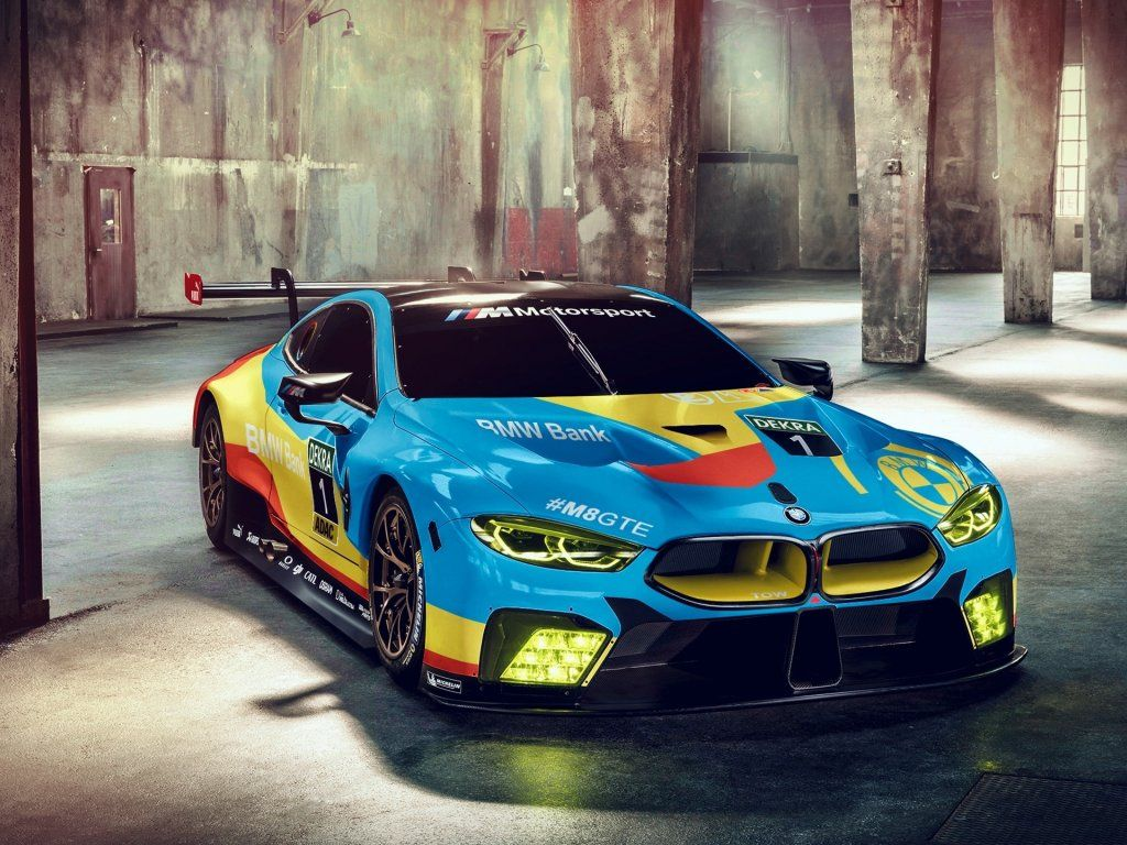 Bmw M8 Gte Front Sports Car Wallpaper Bank