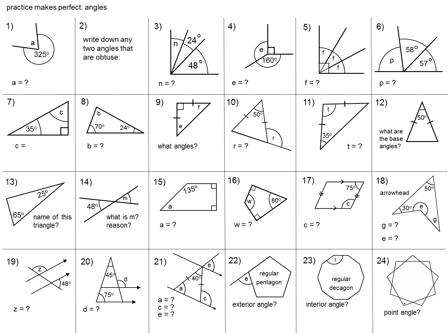 Median Practice And Gcse Angles Grade D Teaching Geometry Middle School Math Gcse Math [ 1128 x 1515 Pixel ]